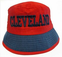 Cleveland Indians City Red Bucket Golf Fishing Sun Hat Cap Embroidered Text Logo $12.99