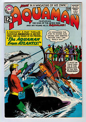 Aquaman 3 8.5 High Grade 1962 White Pages