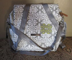 PETUNIA PICKLE BOTTOM GLAZED BOXY BERKSHIRE PATTERN BACKPACK DIAPER BAG NWT!