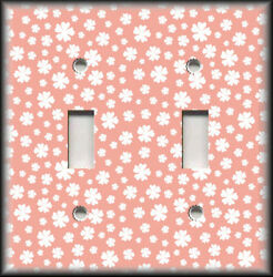Metal Light Switch Plate Cover Pink And White Floral Home Decor Flowers Decor