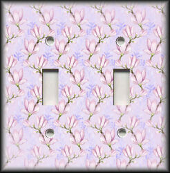 Metal Light Switch Plate Cover Lavender Dogwood Floral Branches Home Decor