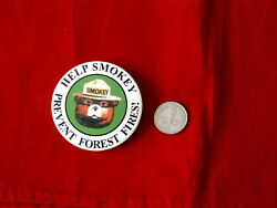 Smokey The Bear Prevent Forest Fires Rare 16-usc-580 P-4 Vintage Promo Pin