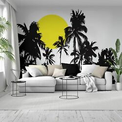 Tropical Night Sunset Palm Tree Wall Decal. 376
