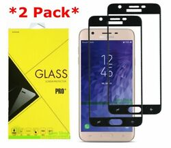 2x Full Cover Tempered Glass Screen Protector Samsung Galaxy J7v 2nd/refine 2018