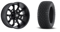 20x10 Satin Vision Bomb Fuel At Tire Wheel And Tire Package 8x6.5 Ram 2500 3500