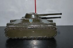 Vintage Greek Toy Armor Tank Solid Heavy Cast Iron Probably By Nikolaidis