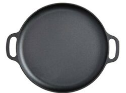 14 Inch Cast Iron Pizza Pan Skillet Cooking Baking Grilling High Quality