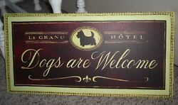 WESTIE Highland Scottie terrier HOTEL SIGN