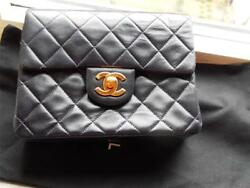 CHANEL AUTHENTIC NAVY Small Cross Body Bag with 42