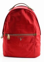 Michael Kors NEW Bright Red Nylon Kelsey Large Designer Backpack Bag $178- #027