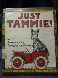 Vintage book JUST TAMMIE a little Scotty's Adventure Scottish Terrier 1935 1951