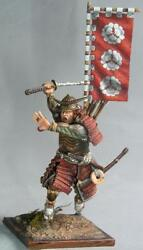 To Be Painted Russian Vityaz Elite Soldier Japanese Samurai With Flag Running