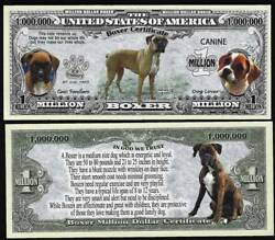 Boxer Dog Bill Puppy amp; Adult Pics Common Traits on Back LOT OF 10 Bills