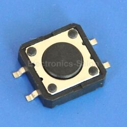 1000pcs 12 x 12 x 4.3mm SMD Tactile Button Switch, Momentary .