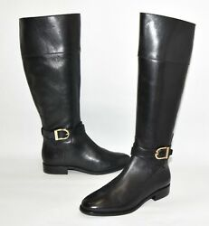 New Cole Haan Catskills Boot Black Leather Ext Wide Calf Size 6 B W01147