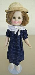 Shirley Temple Ideal Collectors Doll Poor Little Rich Girl Coat + Stand 12 1982