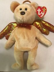 Ty Beanie Baby Halo The Bear Custom Dyed Unigue Rare Color With Errors Retired