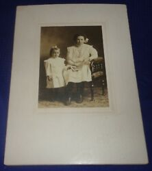 Rp2218 Antique Cabinet Card Photo Mother And Daughter Wingham On