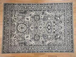 9and039x11and0397 Heris Pure Wool With Natural Colors Hand-knotted Oriental Rug R41868