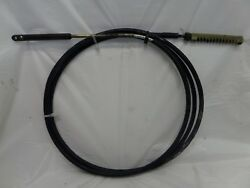 VINTAGE JOHNSON EVINRUDE 10' REMOTE CONTROL CABLE W NYLON RACK MOTOR OUTBOARD