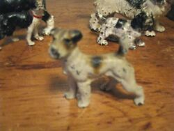 ANTIQUE HUBLEY CAST IRON WIRE HAIRED FOX TERRIER DOG PAPERWEIGHT