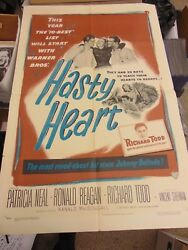 Ronald Reagan The Hasty Heart Original 27x41 One-sheet Movie Poster N1869