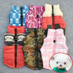 Lots Warm Padded Coat Jacket Vest Harness Apparel Clothes for Pet Dog Cat Puppy