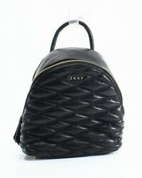 DKNY NEW Black Quilted Leather lara Mini Backpack Crossbody Bag Purse $248- #014
