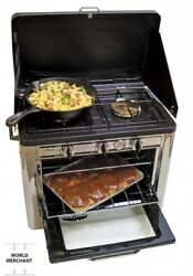 Camp Dutch Oven Accessories Pipe Chef Outdoor Rv Camping Set 2 Burner Gas Stove