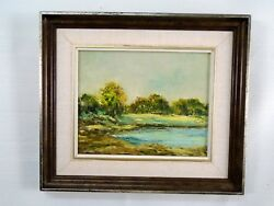 Signed Original Oil Painting Spring Melvern Square Nova Scotia 1981 Landscape