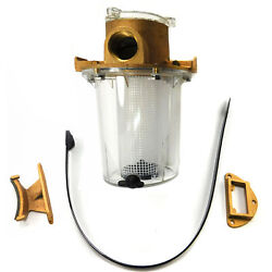 Groco Arg-1000-p Raw Water Strainer With Plastic Basket 1 Npt Ports