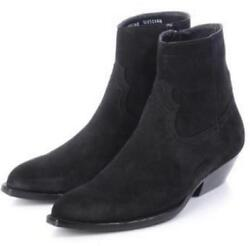 Fashion Mens Cuban Heel Ankle Boots High Tops Suede Shoes Vintage Pointy Toes