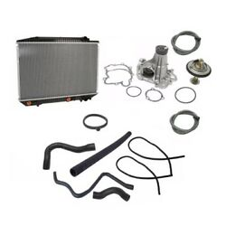 Mercedes W126 420sel 560sel Radiator Lower Upper Hoses Water Pump Thermostat Kit