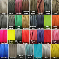 550 Paracord Type III 7 Strand Parachute Cord 10 25 50 100 ft Made in USA
