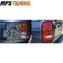 Land Rover Discovery 3 Front And Rear Light Guards Set - Vub501200 And Vub501380