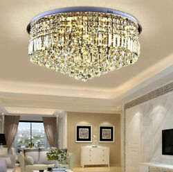 Modern luxury living room Ceiling light Clear crystal round crystal chandelier