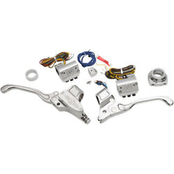 Performance Machine Chrome Handlebar Control Kit wCable Clutch for 84-13 Harle