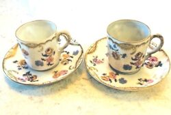 Pennsylvania Railroad Dining Allegheny Rare Antique 2 Sets Demitasse 1920and039s