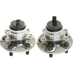 Set Of 2 Front Wheel Hub And Bearing W/ Abs Sensor Assembly For Lexus Ls460 Rwd