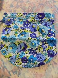 Vera Bradley ditty bag plastic lined BEACH BOUND NWT  Blueberry Blooms