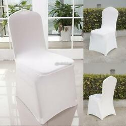 50-1000PCS Chair Seat Covers Stretch Protector Wedding Party Supply Whte Decors
