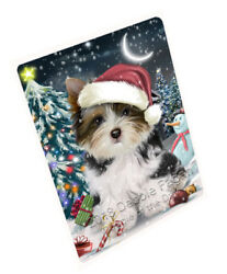 Have a Holly Jolly Biewer Terrier Dog Christmas Blanket BLNKT81444