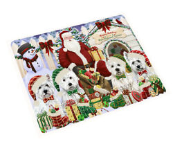 Holidays Christmas West Highland Terriers Dog House Gathering Blanket BLNKT80013