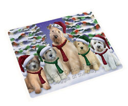 Wheaten Terriers Dog Christmas Family Portrait Holiday Scenic Blanket BLNKT90786