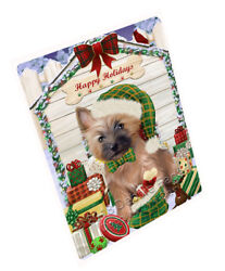 Happy Holiday Christmas Cairn Terrier Dog House with Presents Blanket BLNKT78465