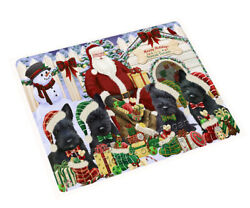 Happy Holiday Christmas Scottish Terriers Dog House Gathering Blanket BLNKT79923