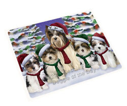 Biewer Terriers Dog Christmas Family Portrait Holiday Scenic Blanket BLNKT90651