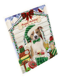 Christmas American Staffordshire Terrier Dog With Presents Blanket BLNKT89895