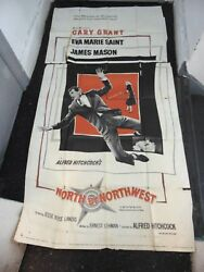 Alfred Hitchcock Cary Grant North By Northwest 3-sheet Poster N3071