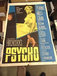 Alfred Hitchcock Psycho Original One-sheet Poster N3074
